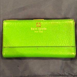 Kate Spade Kelly Green Slim Wallet